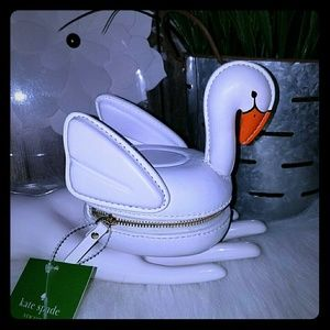 Kate spade 3d swan pool float coin purse